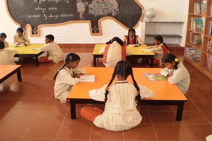 Isha Vidhya Matriculation Higher Secondary School-Library