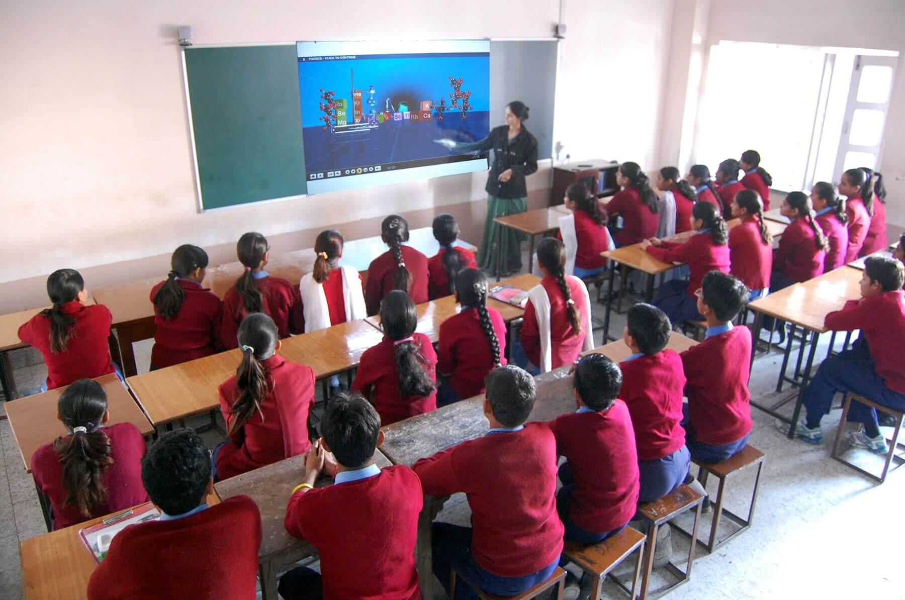 Pink Model School-Digital Classroom