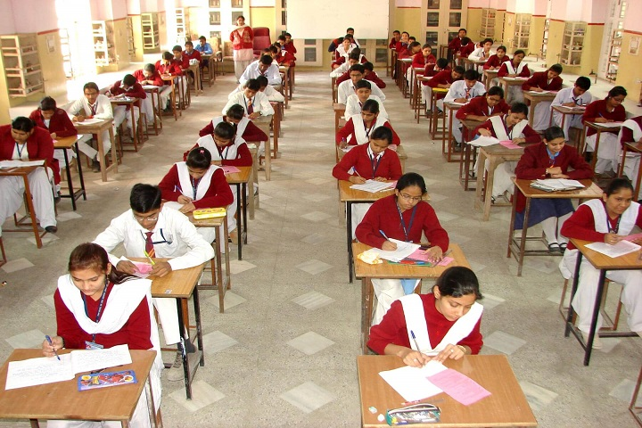 Pink Model School-Exam hall