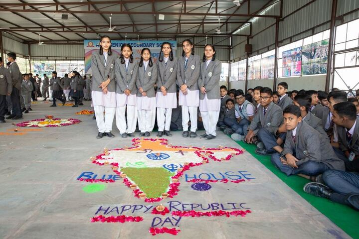 Apex Senior Secondary School-Rangoli Making Competition