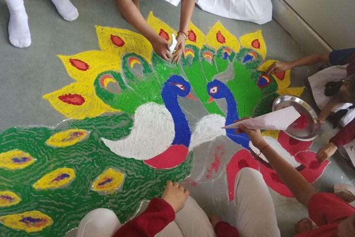 Bakhshis Springdales Junior School-Rangoli