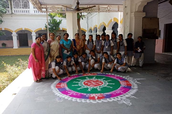 Raghunath Girls Inter College-Rangoli Competition