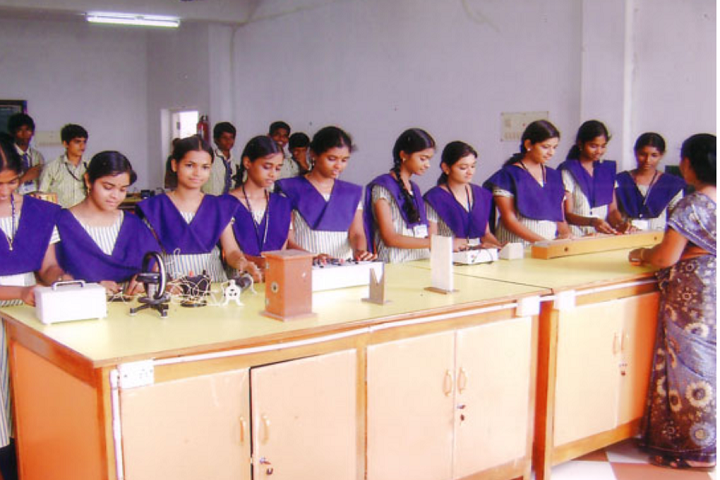Dhanalakshmi Srinivasan Matric Higher Secondary School-Science Lab