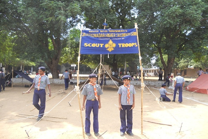 MNU Jayaraj Nadar Higher Secondary School-Scout District Level Judging Competition