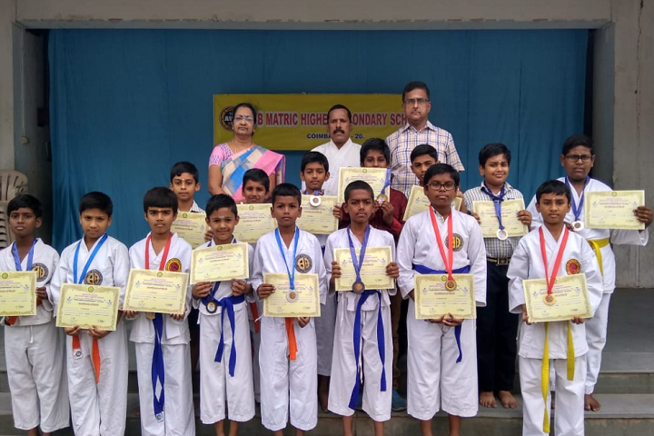 AVB Matriculation Higher Secondary School-Karate Winner
