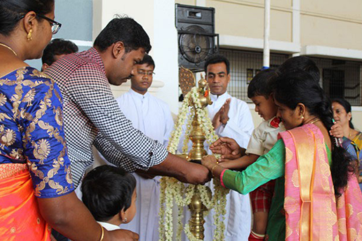 Chavara Vidya Bhavan Matriculation Higher Secondary School-Lighting The Lamp