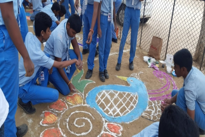 Geethanjalee Matriculation Higher Secondary School-Rangoli Competition