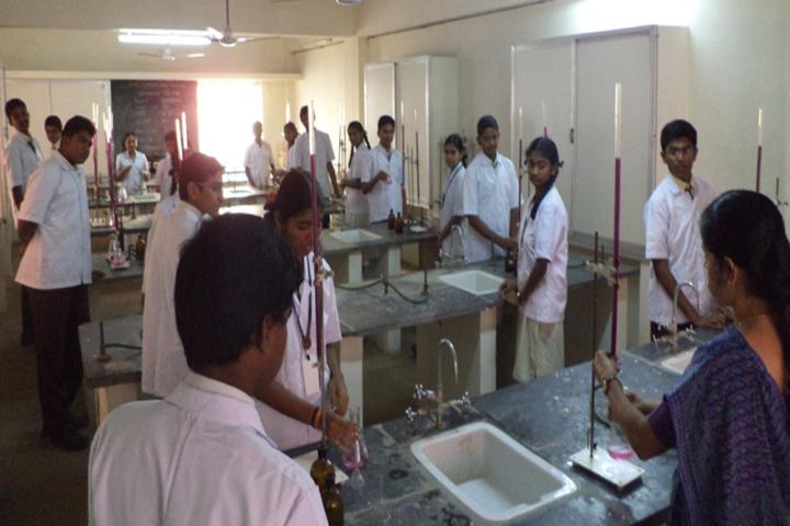 Kongu Vellalar Matriculation Higher Secondary School-Chemistry Lab