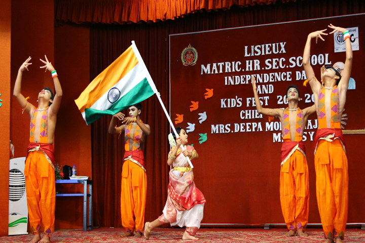 Lisieux Matriculation Higher Secondary School-Independence Day Celebration