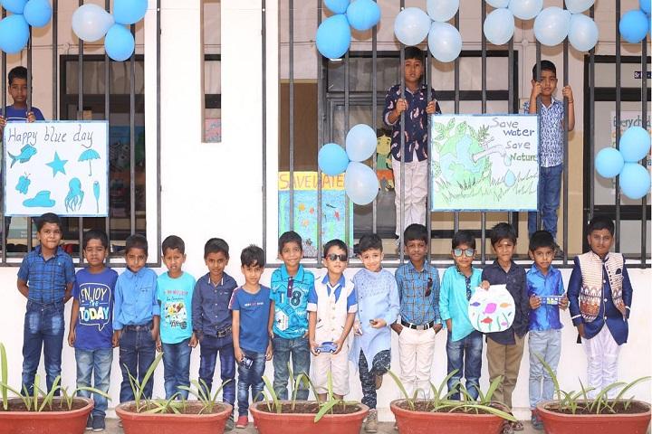 ALG Matriculation Higher Secondary School-Blue Day Celebration
