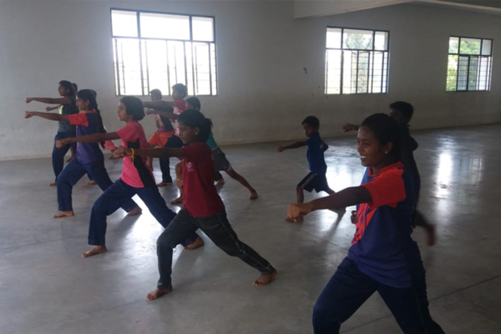 Dr PGV Residentail Co Educational School-Karate