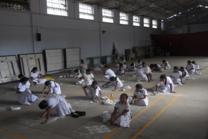 GD Matriculation School-Rangoli Competition