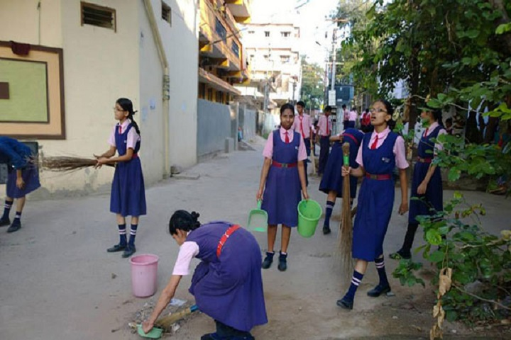 Sree Balaji High School-Cleaning The Campus