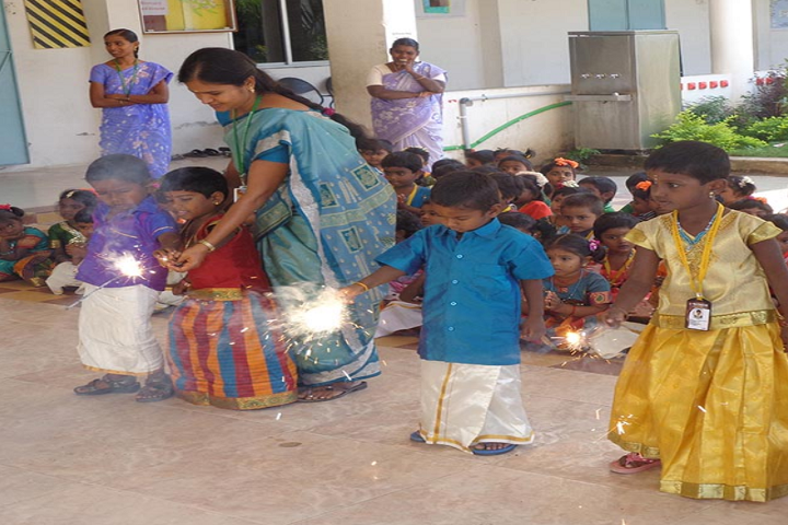 Paavendhar Matric Higher Secondary School-Diwali Celebration