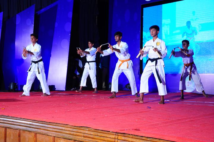 Sri Paramahamsa Vidyaniketana school-Karate Actiity