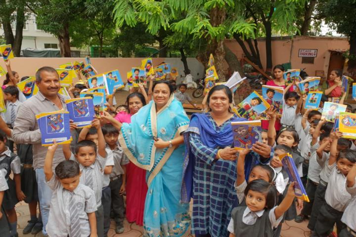 Renu Vidya Peeth Higher Secondary School--Distribution of Books