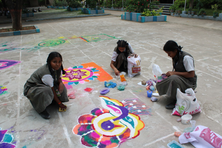 St Gabriels High School-Rangoli Competition