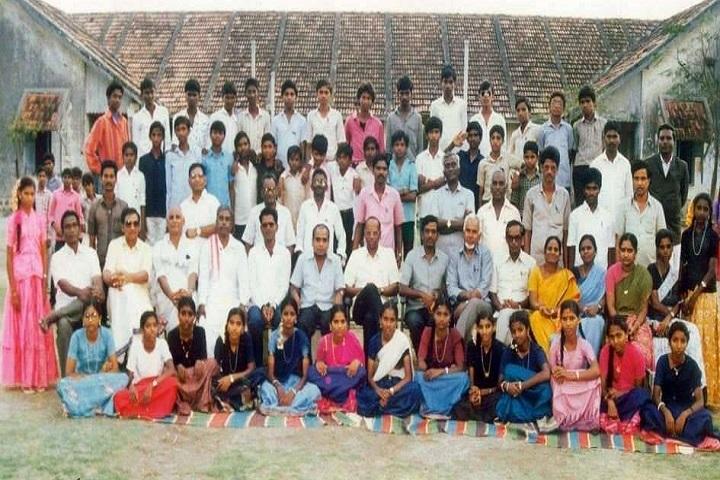 Zilla Parishad High School-Students And Staff Group Photo