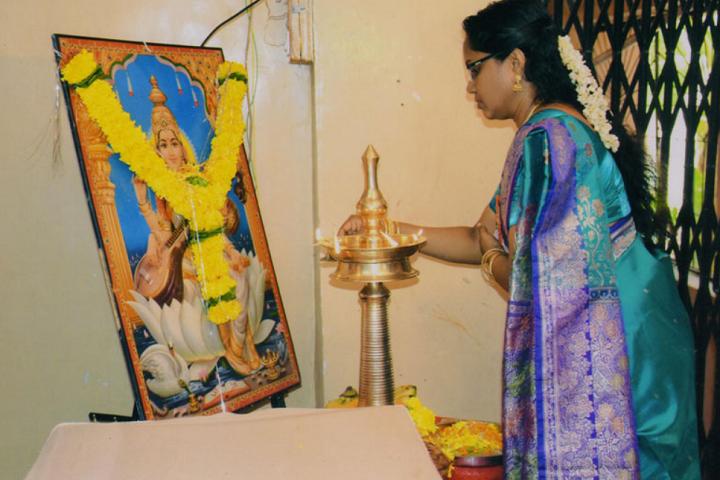 Saraswati Vidya Mandir-Lighting The Lamp