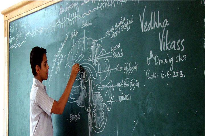 Vedhha Vikas Higher Secondary School-Black Board