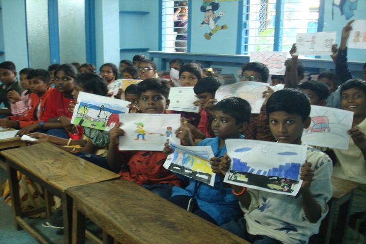 B P M Matriculation School-Drawing Competition