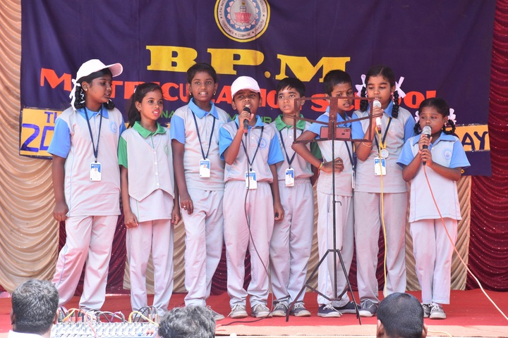 B P M Matriculation School-Group Singing