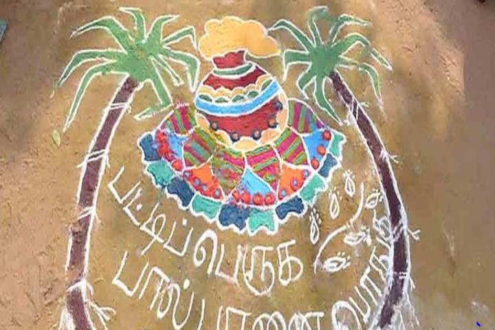 Little Diamond Matriculation School-Rangoli Competition