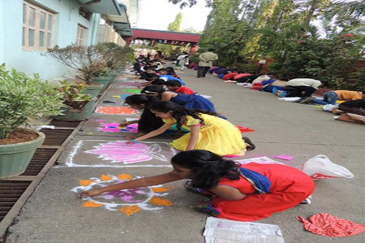 Don Bosco High School Junior College-Rangoli Competition