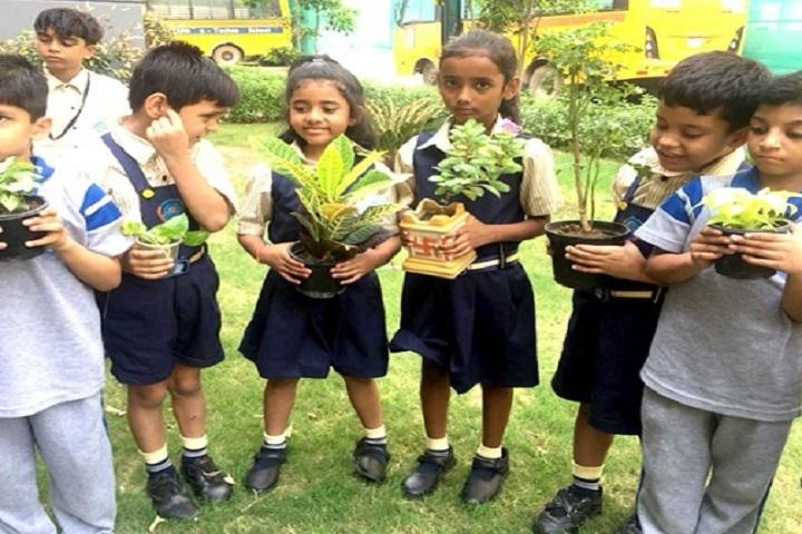 Narayana e Techno School-Tree Plantation