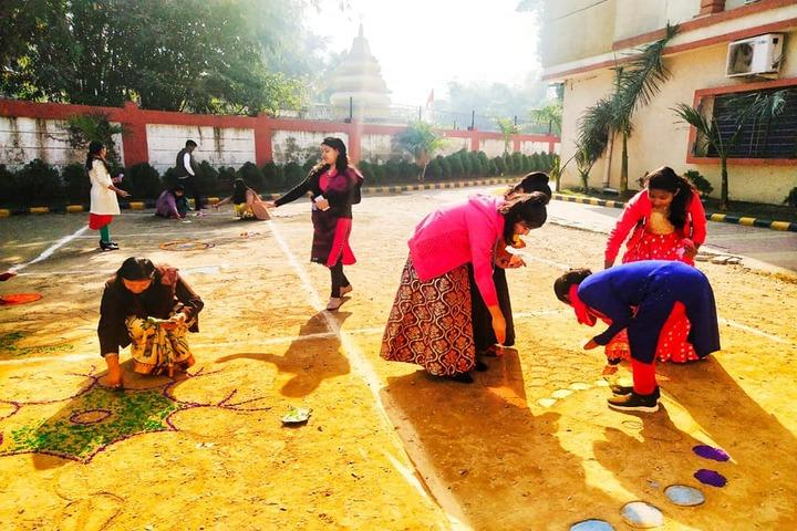 Narayana School-Rangoli Competition