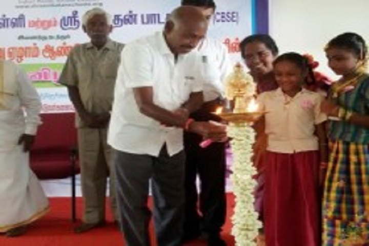 Shree Niketan Matric Higher Secondary School-Lighting The Lamp