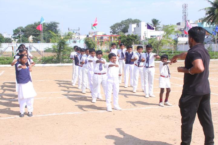 Dwarkesh Vidhyashram CBSE School-Karate Activity
