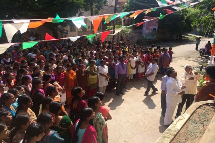 Abhyudaya Mahila Junior College-Flag Hoisting