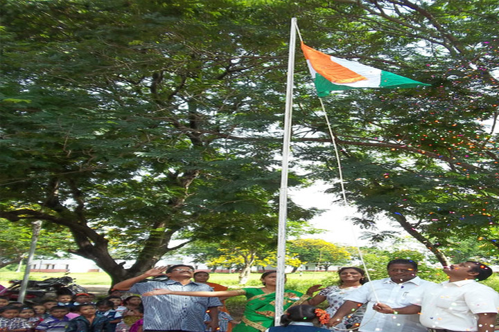Angel School And Emmi Junior College-Flag Hoisting
