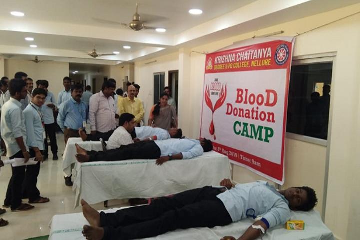 Krishna Chaitanya Junior College-Blood Donation Camp