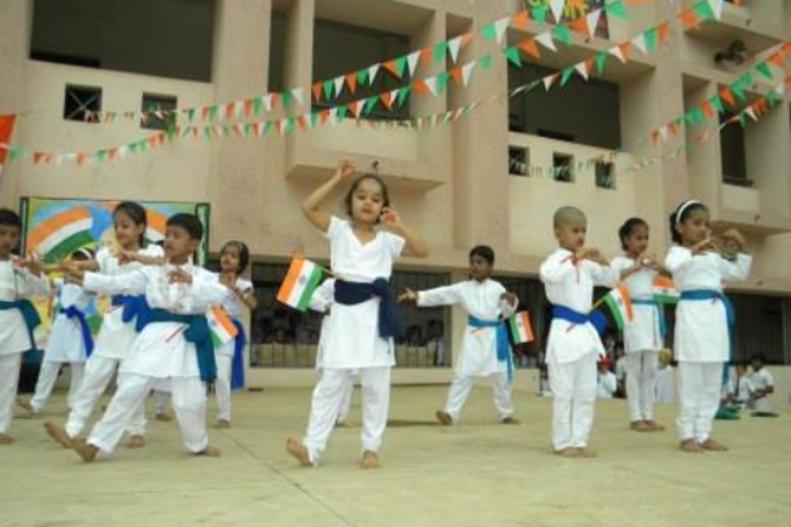 Krishna Public School- Dancing Activity on Independence Day