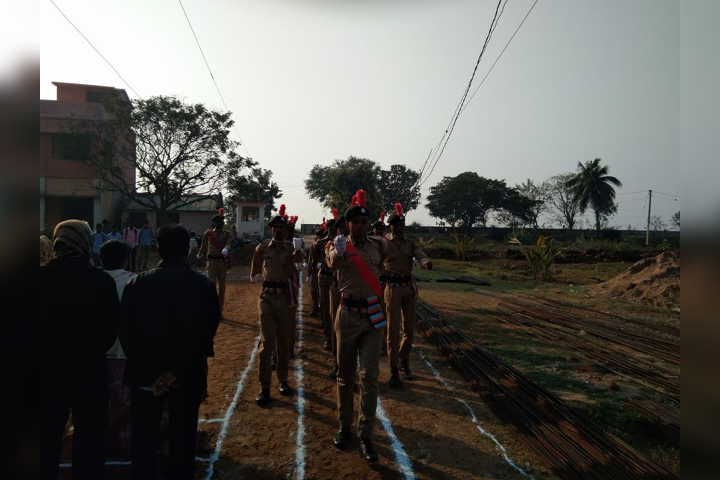 Balugaon College - NCC Parade on Independence Day