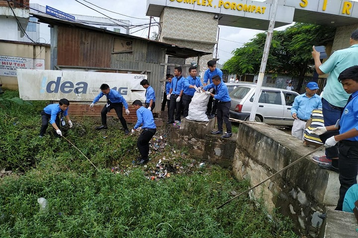 Churachand Higher Secondary School-Cleaning Campaign