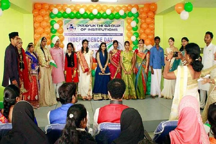 Prayukthi Pre University College-Independance Day Programme