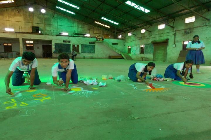 National Convent School-rangoli
