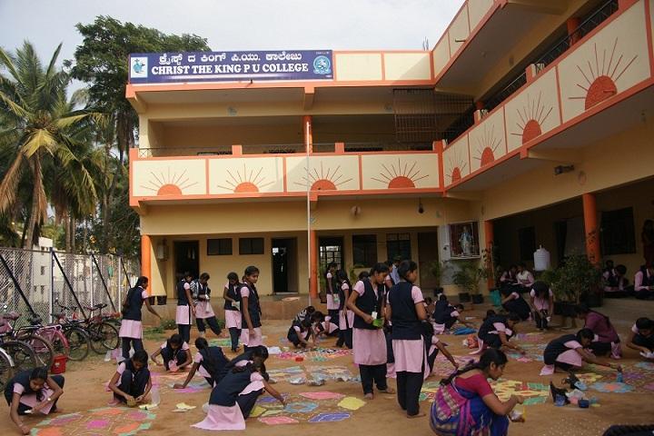 Christ The King Pre University College-Rangoli