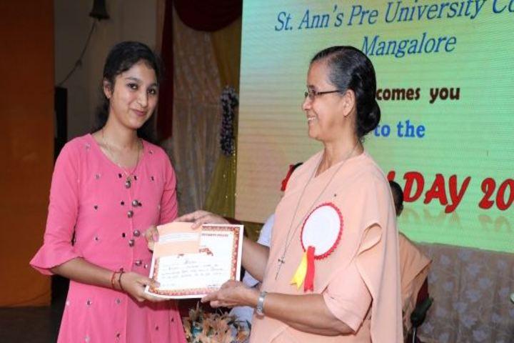 St Anns Pre-University College-Award