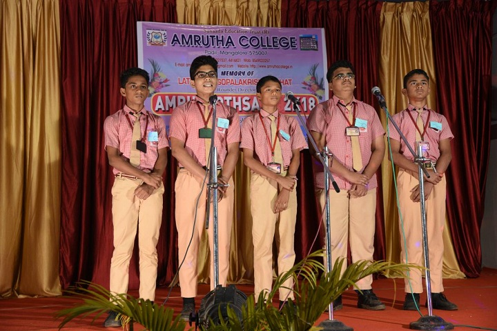 Amrutha Pre University College-Group Song