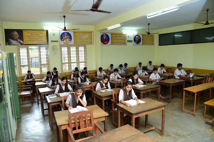Narendra Pre University College-Library Reading Room