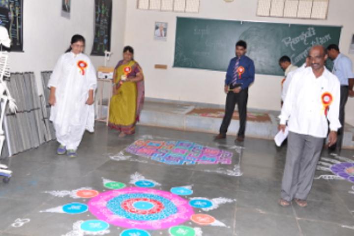 SNJPSNMS Independent Pre University College-Rangoli