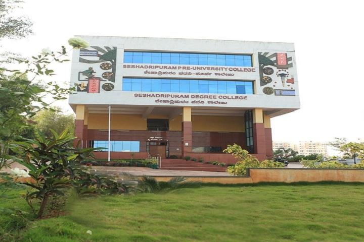 Seshadripuram Independent Pre University College-Campus Front View