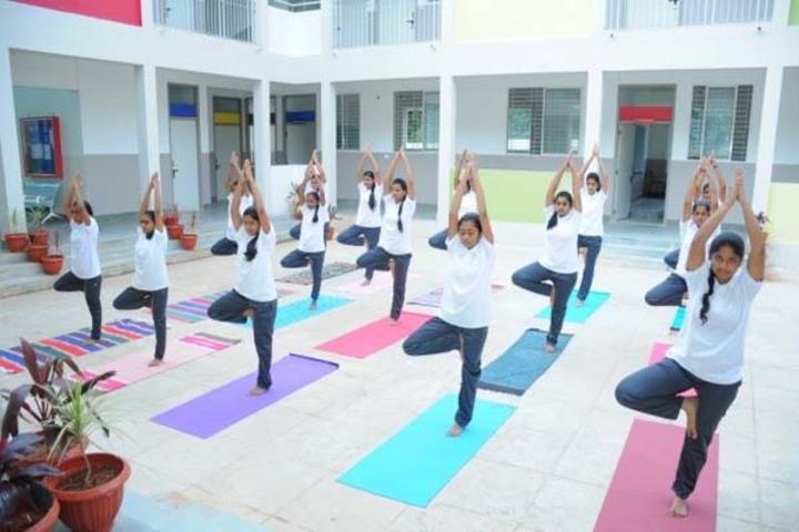 Navkis Residential Pre-University College for Girls-Yoga