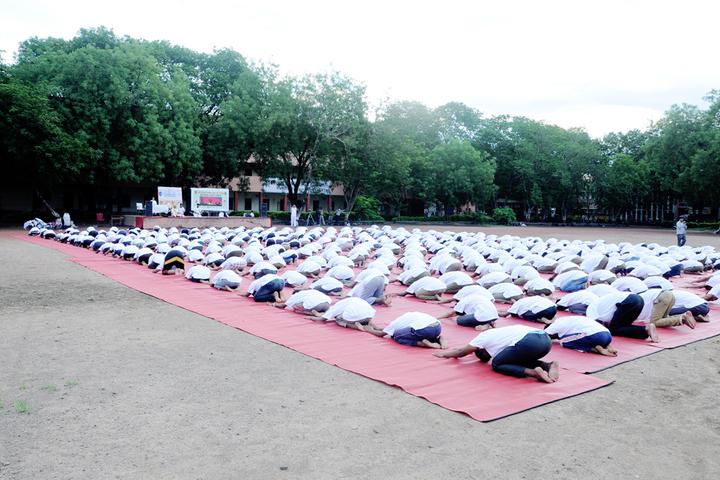 Dhanaji Nana Mahavidyalaya-Yoga Day