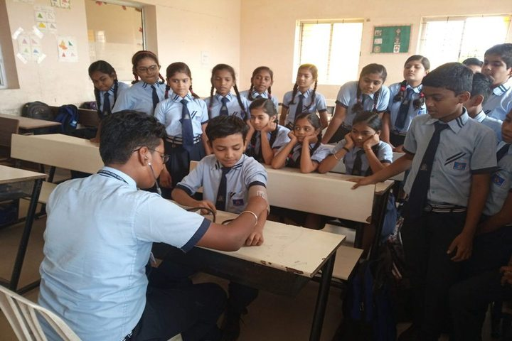 Sanskar City International School-Health Checkup Camp