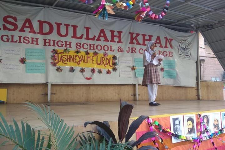 Dr Asadullah Khan English High School and Junior College-Programme